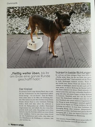 HundeWelt Sport: Der Kreisel mit Bella