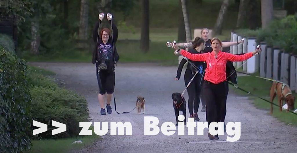 Normales Gassigehen ist out: Fitnesstraining mit Hund ist in