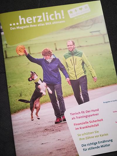 Tierisch fit: Der Hund als Trainingspartner. Artikel in der ...herzlich!-Ausgabe 01/2018